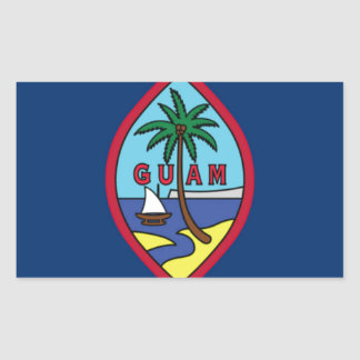 Low Cost! Guam Flag Sticker