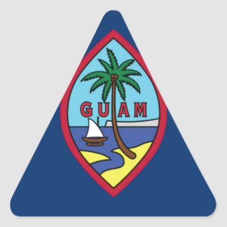 Low Cost! Guam Flag Triangle Sticker