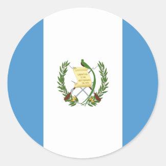 Low Cost! Guatemala Flag Classic Round Sticker