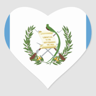Low Cost! Guatemala Flag Heart Sticker