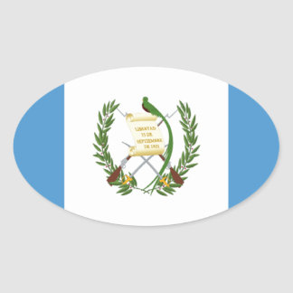 Low Cost! Guatemala Flag Oval Sticker