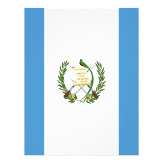 Low Cost! Guatemala Flag Personalized Letterhead