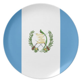Low Cost! Guatemala Flag Plate