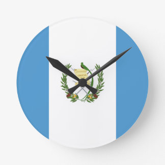 Low Cost! Guatemala Flag Round Clock