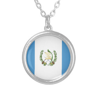 Low Cost! Guatemala Flag Silver Plated Necklace