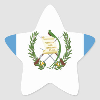 Low Cost! Guatemala Flag Star Sticker