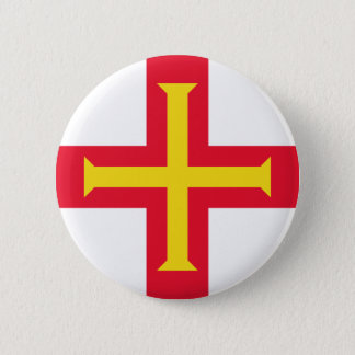 Low Cost! Guernsey Flag 2 Inch Round Button