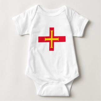 Low Cost! Guernsey Flag Baby Bodysuit