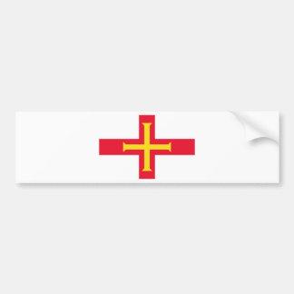 Low Cost! Guernsey Flag Bumper Sticker