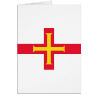 Low Cost! Guernsey Flag Card