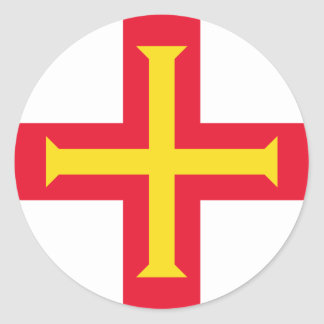 Low Cost! Guernsey Flag Classic Round Sticker