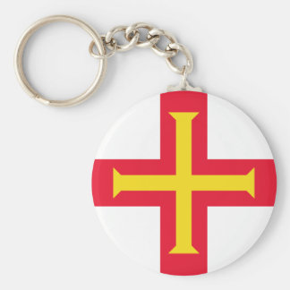 Low Cost! Guernsey Flag Keychain