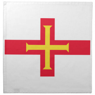 Low Cost! Guernsey Flag Napkin