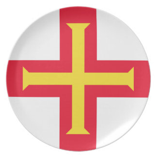 Low Cost! Guernsey Flag Plate