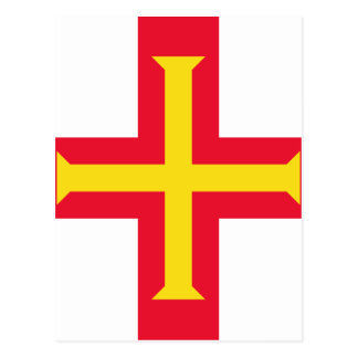 Low Cost! Guernsey Flag Postcard