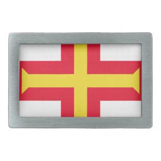 Low Cost! Guernsey Flag Rectangular Belt Buckle