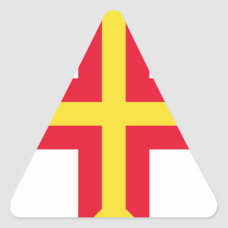 Low Cost! Guernsey Flag Triangle Sticker