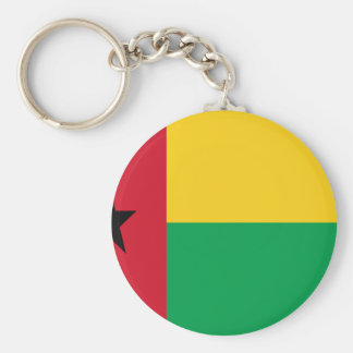 Low Cost! Guinea-Bissau Flag Basic Round Button Keychain