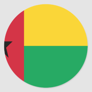 Low Cost! Guinea-Bissau Flag Classic Round Sticker
