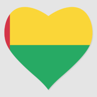 Low Cost! Guinea-Bissau Flag Heart Sticker