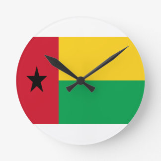 Low Cost! Guinea-Bissau Flag Round Clock