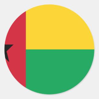 Low Cost! Guinea-Bissau Flag Round Sticker