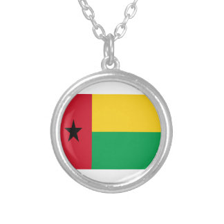 Low Cost! Guinea-Bissau Flag Silver Plated Necklace