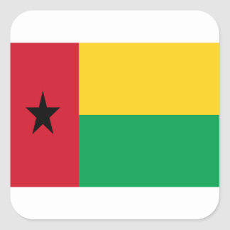 Low Cost! Guinea-Bissau Flag Square Sticker