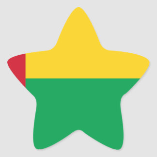 Low Cost! Guinea-Bissau Flag Star Sticker