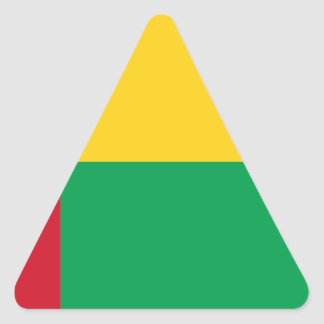 Low Cost! Guinea-Bissau Flag Triangle Sticker