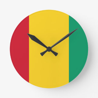 Low Cost! Guinea Flag Round Clock