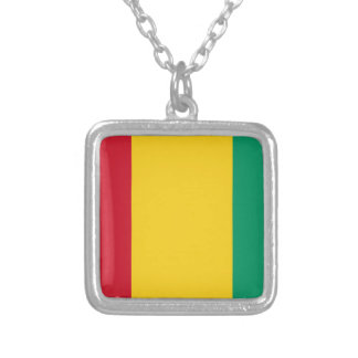 Low Cost! Guinea Flag Silver Plated Necklace