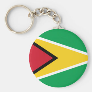 Low Cost! Guyana Flag Basic Round Button Keychain