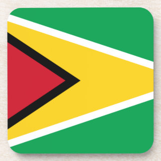 Low Cost! Guyana Flag Beverage Coaster