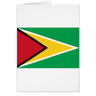 Low Cost! Guyana Flag Card