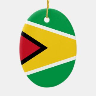Low Cost! Guyana Flag Ceramic Ornament