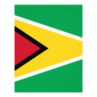 Low Cost! Guyana Flag Personalized Letterhead