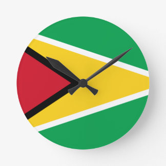 Low Cost! Guyana Flag Round Clock