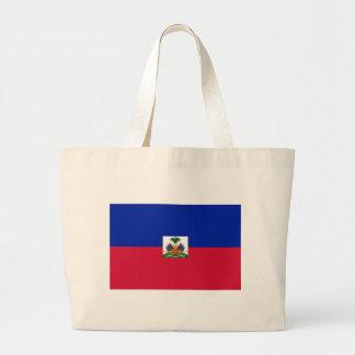 Low Cost! Haiti Flag Large Tote Bag