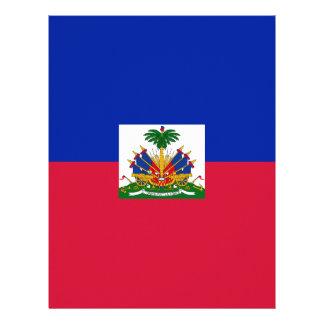 Low Cost! Haiti Flag Letterhead Template