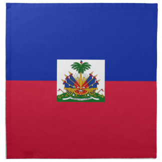 Low Cost! Haiti Flag Napkin