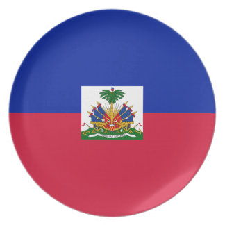 Low Cost! Haiti Flag Party Plate