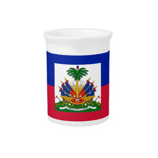 Low Cost! Haiti Flag Pitcher