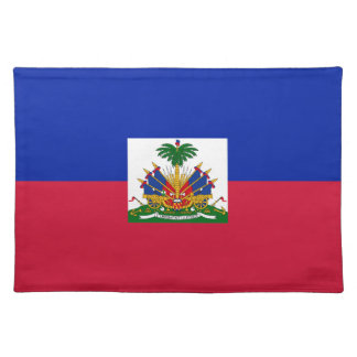 Low Cost! Haiti Flag Placemat