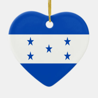 Low Cost! Honduras Flag Ceramic Heart Ornament