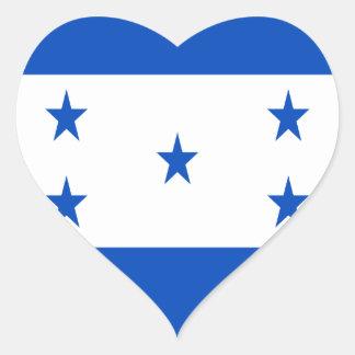 Low Cost! Honduras Flag Heart Sticker
