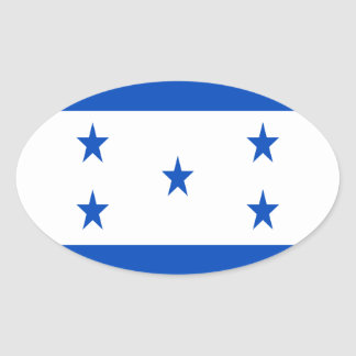 Low Cost! Honduras Flag Oval Sticker