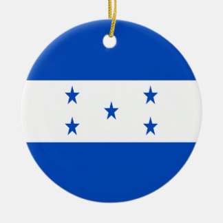 Low Cost! Honduras Flag Round Ceramic Ornament