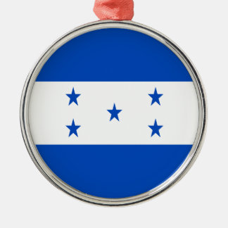 Low Cost! Honduras Flag Silver-Colored Round Ornament