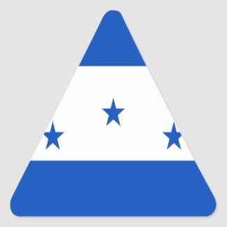 Low Cost! Honduras Flag Triangle Sticker